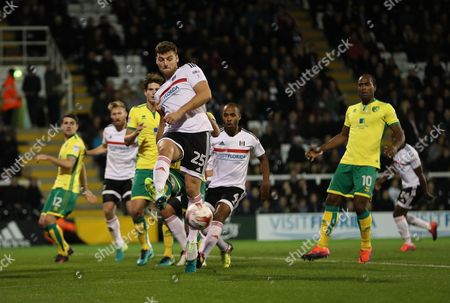 Fulham's Dave Martin during the Sky Bet Championship match between Fulham and Norwich City played at Craven Cottage, London on 18th October 2016