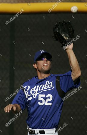 CHAD ALLEN Kansas City Royals outfielder Chad Allen catches a fly ball during spring training baseball in Surprise, Ariz