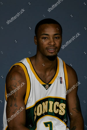 Rashard Lewis Seattle SuperSonics forward Rashard Lewis is shown in Seattle