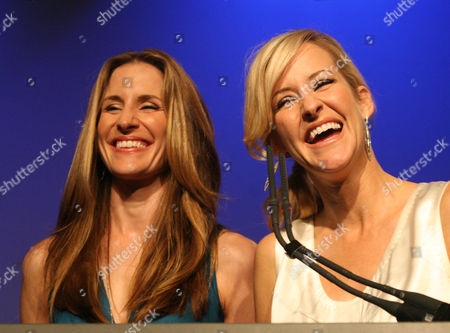 ROBISON The Dixie Chicks' Martie MaGuire, right, and Emily Robison receive the AMD Live Soundtrack Award at the Texas Film Hall of Fame Gala in Austin, Texas