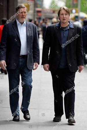 Stock Photo of John Langley, Morgan Langley John Langley, left, and his son, Morgan, walk together on New York's 57th Street
