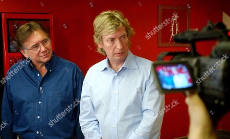 """WARWICK LYTHGOE American Idol"""" producers Ken Warwick, left, and Nigel Lythgoe during a news conference in Los Angeles. Fox said, that longtime executive producers Nigel Lythgoe and Ken Warwick are exiting the singing contest. Its 12th season ended in May with a record low-rated finale. The producers follow judges Mariah Carey, Nicki Minaj and Randy Jackson out the door. Fox confirmed the producers' departure after Lythgoe said online that he'd been """"fired"""" from the show"""