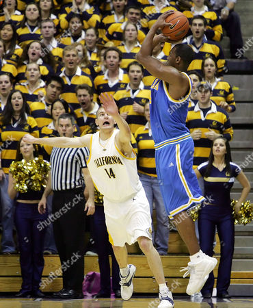 AFFLALO VIERNEISEL UCLA's Arron Afflalo, right, goes up for a 3-point shot over California's Eric Vierneisel during the second half of a college basketball game in Berkeley, Calif., on . UCLA won 67-58 and clinched at least a share of the Pac-10 title