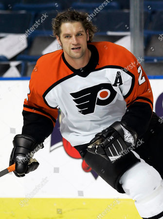 Derian Hatcher In this Oct. 19, 2006, photo, Philadelphia Flyers defenseman Derian Hatcher skates before an NHL hockey game against the Tampa Bay Lightning in Tampa, Fla. Hatcher and his brother Kevin were selected along with Jeremy Roenick, for induction into the United States Hockey Hall of Fame
