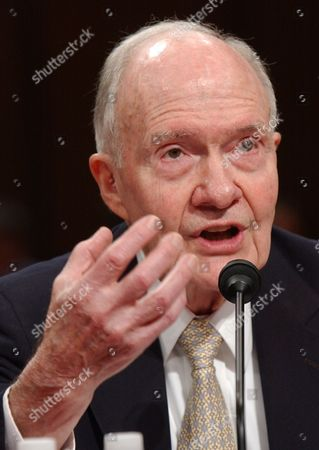 Brent Scowcroft Former National Security Adviser Brent Scowcroft testifies on Capitol Hill in Washington, before the Senate Foreign Relations Committee hearing to study the remaining options in Iraq