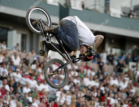 BOHAN Corey Bohan competes in BMX freestyle dirt finals during the X Games at Home Depot Center in Carson, Calif., . Bohan won the competition