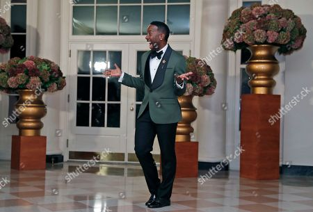 Johnny Wright Hairstylist Johnny Wright arrives for a state dinner at the White House for Italian Prime Minister Matteo Renzi, in Washington