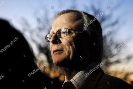 John Selwyn Gummer, the local MP who famously forced his son to eat a hamburger during the BSE outbreak in the early nineties while he was the Enviroment Minister, talking to the media outside the Suffolk Poulty farm that has suffered an avian flu outbreak