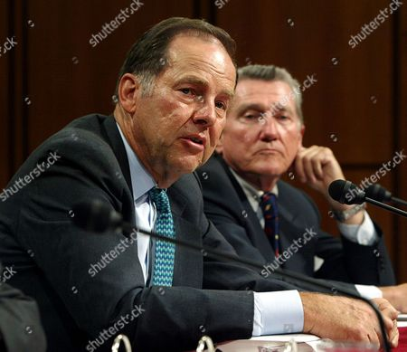 KEAN LEHMAN September 11 commission chairman Thomas Kean, left and commissioner John Lehman, right, testify before the Senate Intelligence Committee Open Hearing on 9/11 Commission Recommendations, on Capitol Hill, in Washington
