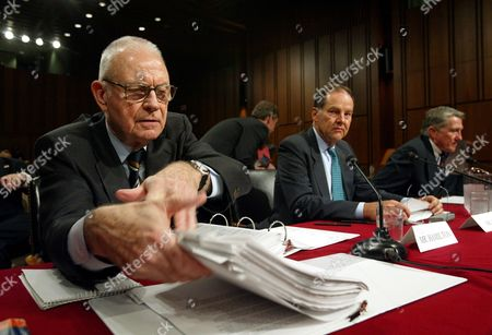 HAMILTON KEAN LEHMAN September 11 commission vice chairman Lee Hamilton, left, Thomas Kean, center, commission chairman, and commissioner John Lehman, right, prepare for the Senate Intelligence Committee Open Hearing on 9/11 Commission Recommendations, on Capitol Hill, in Washington