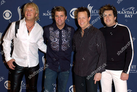 Stock Image of COUNTRY MUSIC AWARDS The band Lonestar arrives at the 39th annual Academy of Country Music Awards at the Mandalay Bay Resort & Casino in Las Vegas on . They are from left, Keech Rainwater, Richie McDonald, Dean Sams and Michael Britt