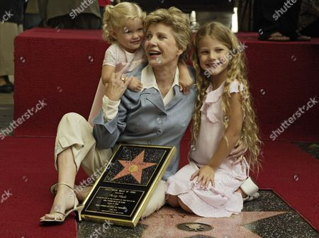 DUKE ASTIN Academy Award winner and television actress Patty Duke sits with her granddaughters Elizabeth Astin 2, left, and Alexandra Astin, 7, after being honored with a star on the Hollywood Walk of Fame, in the Hollywood section of Los Angeles