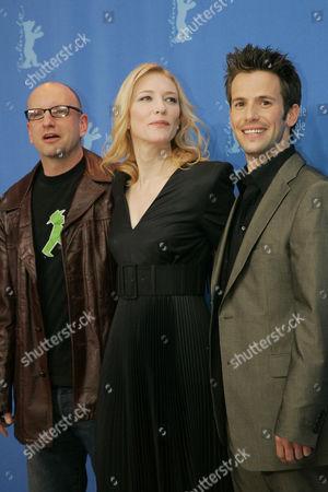 Director Steven Soderbergh, Cate Blanchett and Christian Olivier