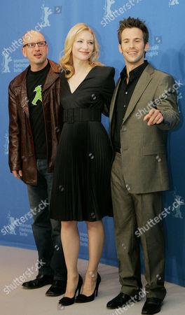 Stock Picture of Director Steven Soderbergh, Cate Blanchett and Christian Olivier
