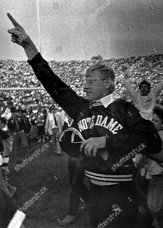 LOU HOLTZ Holtz, whp won a national championship with the Fighting Irish in 1988, walked away from coaching ending a 33-year career that was one of the most successful and colorful in college football history