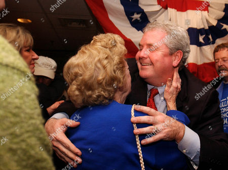 SULLIVAN Jim Sullivan, Democratic candidate for the U.S. Congress in Connecticut's 2nd Congressional District, receives a hug from his mother, Marion Sullivan, 80, after making his concession speech to supporters in Norwich, Conn., Tuesday, Nov. 2, 2004. Sullivan was up against incumbent Rep. Rob Simmons, R-Conn