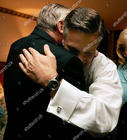 Jon Huntsman Republican Jon Huntsman Jr, right, is hugged by his father, Jon Huntsman Sr. after winning the Utah governorship in his hotel room in Salt Lake City. As governor, proposals to significantly boost education spending and a repeal of the tax on food garnered him support from moderate members of both parties. He also supported school tuition vouchers, pushed through a mostly-flat income tax and backed a state constitutional amendment banning gay marriage in 2004