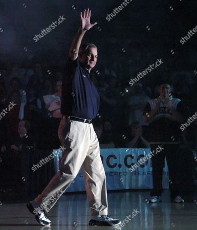 CALHOUN Connecticut men's basketball coach Jim Calhoun enters Gampel Pavilion early, in Storrs, Conn. Calhoun starts his 19th season at UConn, minus Emeka Okafor, Ben Gordon and Taliek Brown, the three 1,000-point scorers who led UConn to its second national championship in April