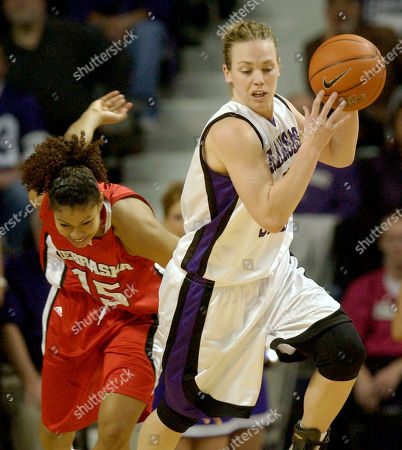WECKER DIAZ Kansas State forward Kendra Wecker, right, is trailed by Nebraska forward Elena Diaz after Wecker stole the ball, at Bramlage Coliseum in Manhattan, Kan. Although regarded as one of the best players in the game, it is unlikely Wecker will receive much national recognition unless 20th-ranked Kansas State can make it into the Final Four