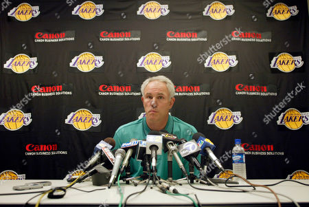 KUPCHAK Los Angeles Lakers general manager Mitch Kupchak comments, on the trade that sent Shaquille O'Neal to the Miami Heat on Wednesday in exchange for Lamar Odom, Caron Butler, Brian Grant and a future first-round draft pick, during a news conference at the Lakers training facility in El Segundo, Calif