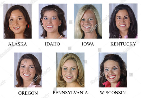 MCGRATH The following are Miss America contestants who are aspiring lawyers. Top row from left; Miss Alaska Christina Reasner; Miss Idaho Elizabeth Barchas; Miss Iowa Carolyn Nicholas; and Miss Kentucky Maria Maldonado. Bottom row from left; Miss Oregon Brook Roberts; Miss Pennsylvania Victoria Bechtold; and Miss Wisconsin Molly McGrath; shown on their arrival in Atlantic City, N.J., . Given recent history, the barristers-to-be have a real shot at the title. Both the reigning Miss America,Ericka Dunlap, and her predecessor, Erika Harold, are aspiring counselors at law. And the pageant has featured at least a half-dozen wannabe lawyers every year since 1998