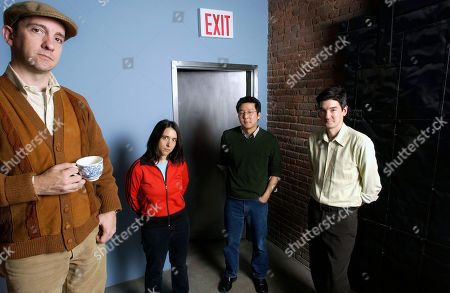 Music group Magnetic Fields pose at Sacks and Co. in New York on . From left are Stephin Merritt, Claudia Gonson, John Woo and Sam Davol