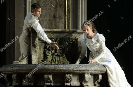 """William Burden as Pelleas, and Anne Sofie von Otter as Melisande, perform """"Pelleas et Melisande"""" by Claude Debussy during a dress rehearsal at New York's Metropolitan Opera House in Lincoln Center"""