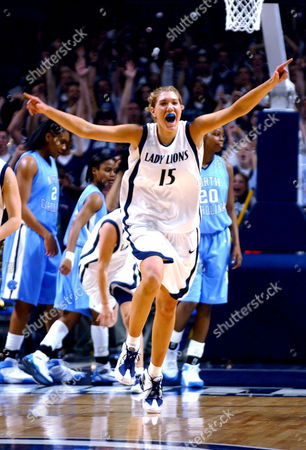 BROWN Penn State's Amanda Brown celebrates the Nittany Lions' 77-71 upset of No. 2 North Carolina, in State College, Pa