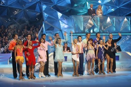 Contestants Duncan James and Maria Filippov, Kyran Bracken and Melanie Lambert, Kay Burley and Fred Palascak, Clare Buckfield and Andrei Lipanov, Stephen Gately and Kristina Lenko, Lisa Scott-Lee and Matt Evers, Lee Sharpe and Frankie Poultney, Emily Symons and Daniel Whiston