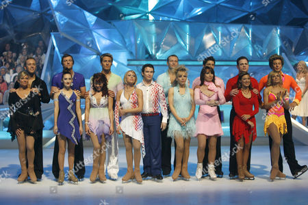 Contestants Emily Symons and Daniel Whiston, Lee Sharpe and Frankie Poultney, Lisa Scott-Lee and Matt Evers, Stephen Gately and Kristina Lenko, Clare Buckfield and Andrei Lipanov, Kay Burley and Fred Palascak, Kyran Bracken and Melanie Lambert, Duncan James and Maria Filippov
