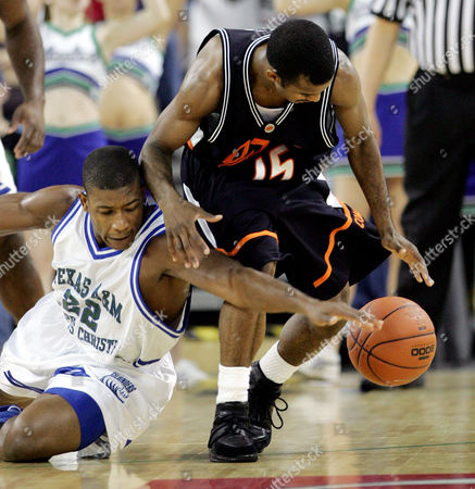 LUCAS WHITE Oklahoma State guard John Lucas (15) and Texas A&M-Corpus Christi guard Aaron White battle for a loose ball during the first half in Corpus Christi, Texas