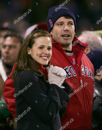 Actors Jennifer Garner, left, and Ben Affleck attend Game 1 of the World Series in Boston. The couple have decided to divorce after 10 years of marriage, they announced in a joint statement . The statement notes that the decision comes after careful consideration and that they will stay committed to co-parenting their three children, Violet Affleck, Seraphina Rose Elizabeth Affleck and Samuel Garner Affleck