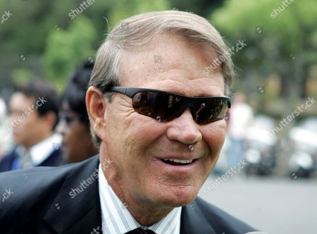 CAMPBELL Singer Glen Campbell arrives for the funeral of music legend Ray Charles at the First AME Church in Los Angeles, . Charles died last week at 73
