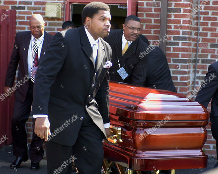 RICK JAMES The casket of singer Rick James is carried out of St. John Baptist Church by members of the Stone City band, towards the awaiting hearse in Buffalo, N.Y. James, 56, died in his sleep Friday, Aug. 6, at his home near Universal City, Calif. He was born in Buffalo, N.Y