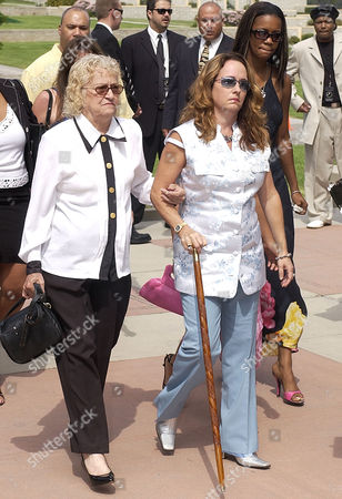 MARIE Musician Teena Marie, holding cane, arrives at the memorial service for musician Rick James at Forest Lawn in the Hollywood Hills section of Los Angeles, . James died in his sleep last week at his home near Universal City. He was 56