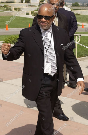 GORDY Music executive Barry Gordy arrives at a memorial service for musician Rick James at Forest Lawn in the Hollywood Hills section of Los Angeles, . James died in his sleep last week at his home near Universal City. He was 56