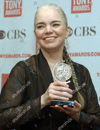"Susan Hilferty poses for photos with her Tony Award for Best Costume Design for ""Wicked"