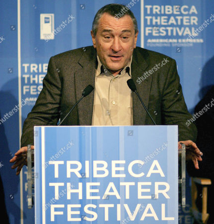 TRIBECA THEATER FESTIVAL Robert De Niro holds a news conference to announce the first annual Tribeca Theater Festival, in New York, . The event, which will feature plays by writers such as Wendy Wasserstein and Paul Rudnick, runs from Tuesday, Oct. 19 until Oct.31, 2004
