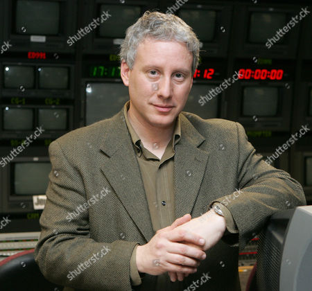 """David Brancaccio, new host of PBS' """"Now,"""" poses for a portrait in a New York television studio. Brancaccio takes over from Bill Moyers, founder of the weekly news magazine, who retired in December at age 70"""