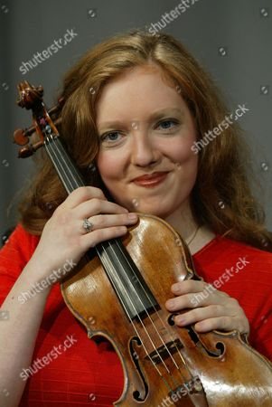 Violinist Rachel Barton Pine poses for a portrait in New York