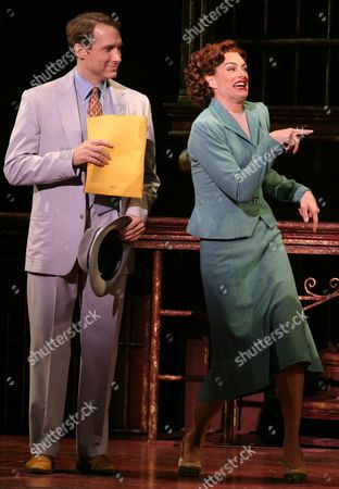 """Brooke Shields, right, and Gregg Edelman perform in the Broadway musical """"Wonderful Town"""" at the Al Hirschfeld Theatre in New York . Shields stars in the role of Ruth Sherwood"""