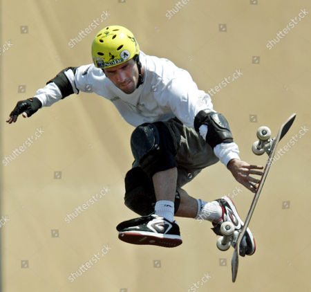 """MACDONALD Andy Macdonald competes in the """"Skateboard Big Air"""" competition, at the X-Games in Los Angeles. Macdonald took third place"""