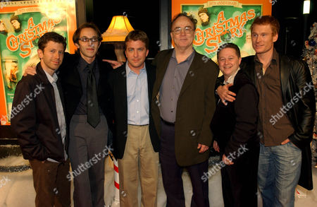 """WARD The cast of """"A Christmas Story,"""" from left, R.D. Robb, Ian Petrella, Peter Billingsley, director Bob Clark, Scott Schwartz and Zack Ward, pose during celebrations of the release of the """"Special Edition DVD Release of A Christmas Story,"""", at the Arclight Hollywood Theater in Los Angeles"""