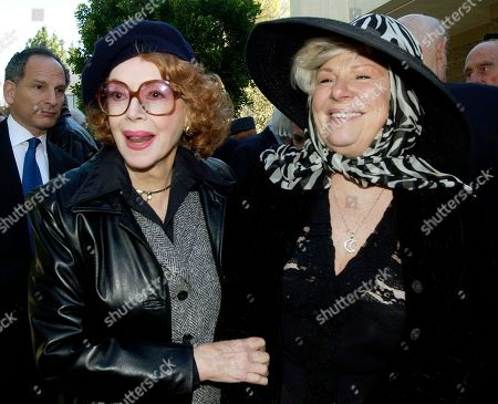 MEADOWS TAYLOR Actresses Jayne Meadows, left, and Renee Taylor pose as they leave the funeral service for dancer/actress Ann Milller at St. Mel Catholic Church in Los Angeles' Woodland Hills area . Miller died Jan. 22 at the age of 80