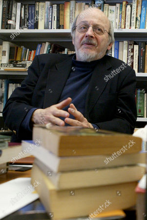 "E L Doctorow Author E.L. Doctorow smiles during an interview in his office at New York University. Doctorow's latest book, ""Andrew's Brain,"" takes on the ongoing debates about science vs. literature and humans vs. machines"