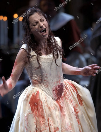 DESSAY Coloratura Soprano Natalie Dessay of France sings the role of Lucia during the third act at the Lyric Opera, in Chicago