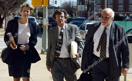 BERGMAN WALLACE GUASTAFERRO Members of the defense team for accused Oklahoma City bombing conspirator Terry Nichols, from left, Barbara Bergman, Creekmore Wallace and jury consultant Joseph V. Guastaferro, return to the courthouse in McAlester, Okla, Monday, March 1, following a break in jury selecton for the trial