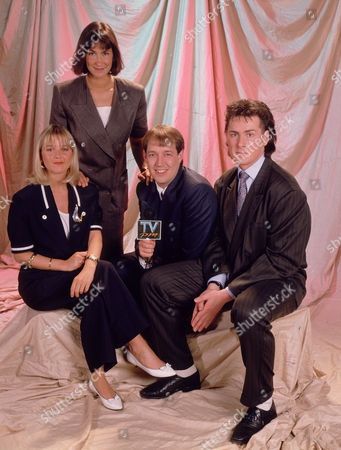 Presenters of 'TVPM' - 1989 - Lisa Maxwell, Carla Mendenca, Mike Osman and Mark Walker.