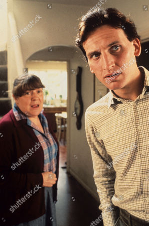 Pat Heywood and Christopher Eccleston in 'Inspector Morse'1991