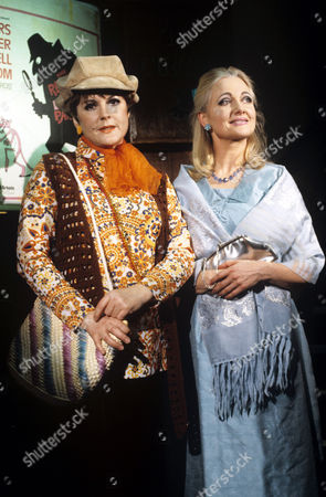 Gwen Taylor (left) and Polly Adams in 'Sob Sisters' - 1989
